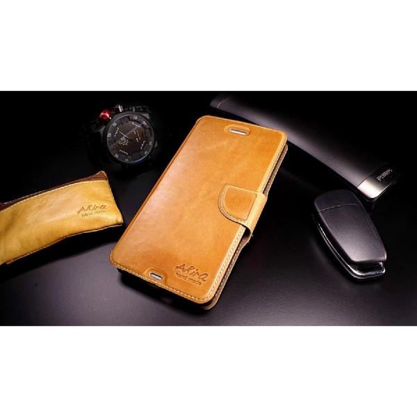 Akira Sony Xperia M2 Aqua Handmade Echtleder Klapp Schutzhülle Flip Wallet Cover