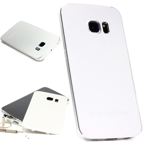 Urcover® Samsung Galaxy S6 Edge Aluminium Schutz Hülle Back Case Cover Tasche