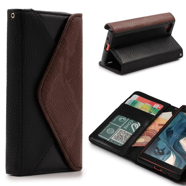 Urcover® Sony Xperia Z5 Compact Schutz Hülle Karten & Geld Fach Case Cover Etui