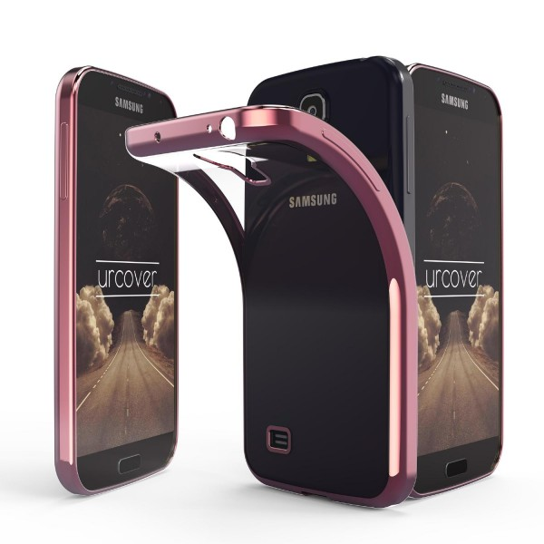 Samsung Galaxy S4 Hülle Spiegelrand klar Slim Cover Tasche Back Case Etui