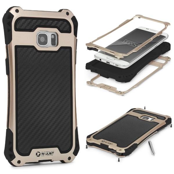 Samsung Galaxy S7 Edge Alu OUTDOOR Schutz Hülle Case Schale Cover SHOCKPROOF