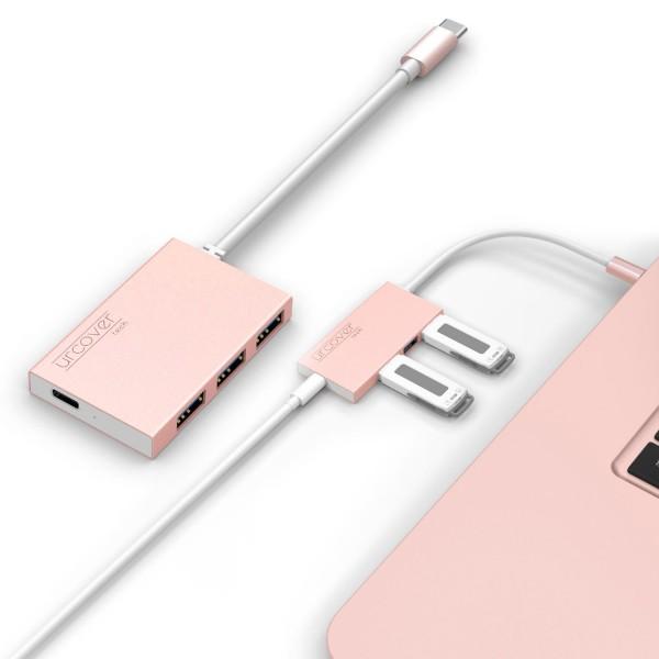 Urcover® dreifach USB Typ A Hub für Tischplatte Ladeanschluss