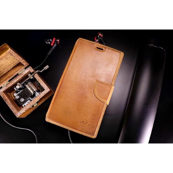 Akira Handmade Leder Handy Schutz Hülle Case Cover Wallet Nokia Lumia 1020