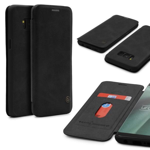 Urcover® Samsung Galaxy S8 Plus Schutz Klapp Hülle Kartenfach Wallet Case