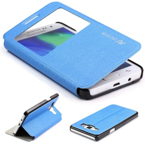 Samsung Galaxy A3 (2015) View Case Schutz Hülle Wallet Cover Etui Tasche