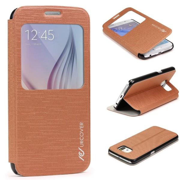 Samsung Galaxy S6 View Case Schutz Hülle Wallet Cover Etui Tasche Struktur