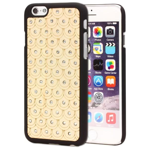 Urcover® Handy Schutz Hülle für Apple iPhone 6 / 6s Holz Optik Case Cover Tasche Schale