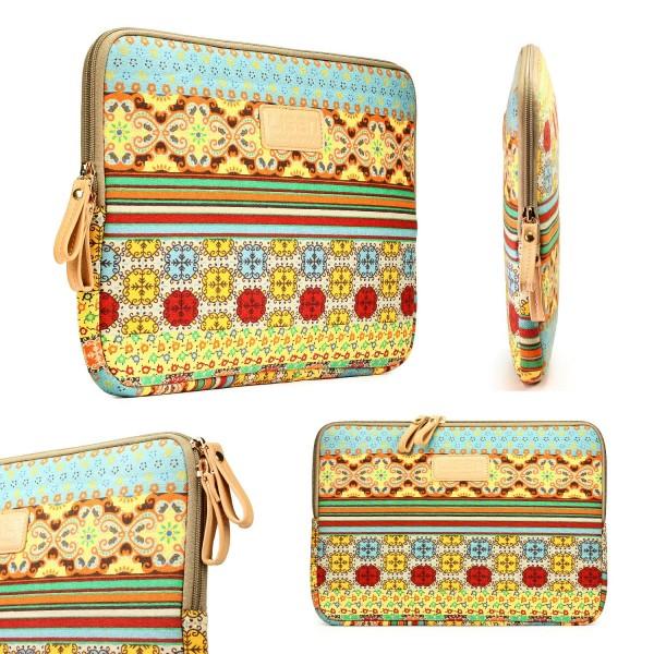 Urcover® Universal Laptop Tasche 10 Zoll Himalaya Design Notebook Hülle Case