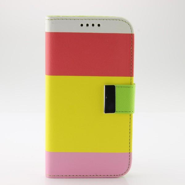 Urcover® Samsung Galaxy S5 Wallet Cover Case Kartenfach Handyhülle Standfunktion