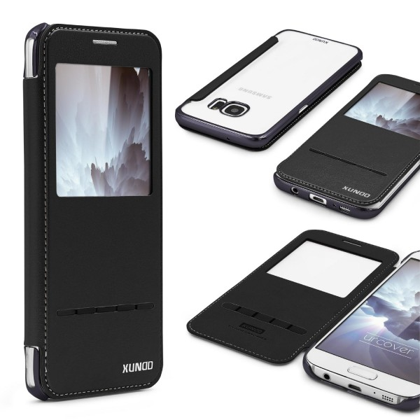 Urcover® Samsung Galaxy S7 Schutzhülle Flip Wallet View Case Cover Etui Tasche