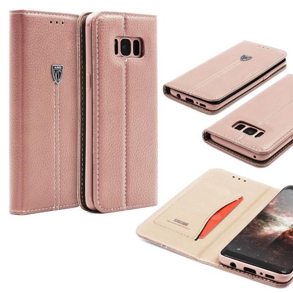 Samsung Galaxy S8 Schutz Hülle Wallet Case Flip Cover Kartenfach Schale Etui