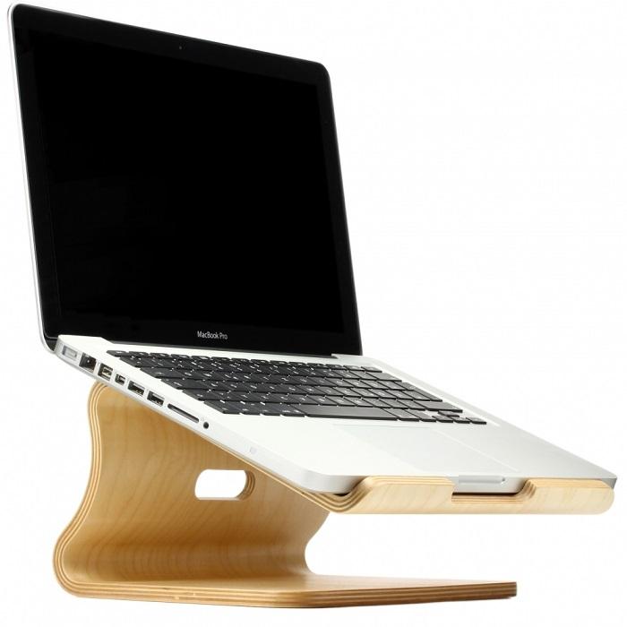 Laptopständer aus Bambus Holz
