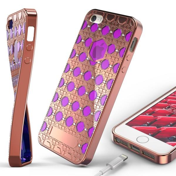 Urcover® Apple iPhone 5 / 5s / SE Silikon Back Case Oriental Cover Schutzhülle