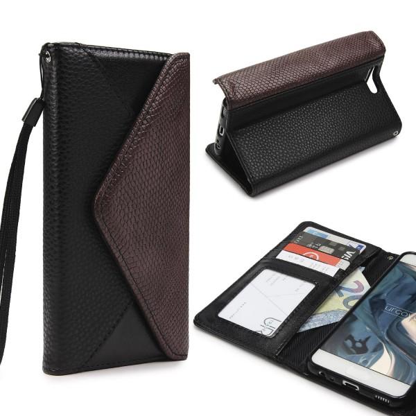 Urcover® Huawei P10 Schutz Hülle Karten & Geld Fach Case Cover Etui