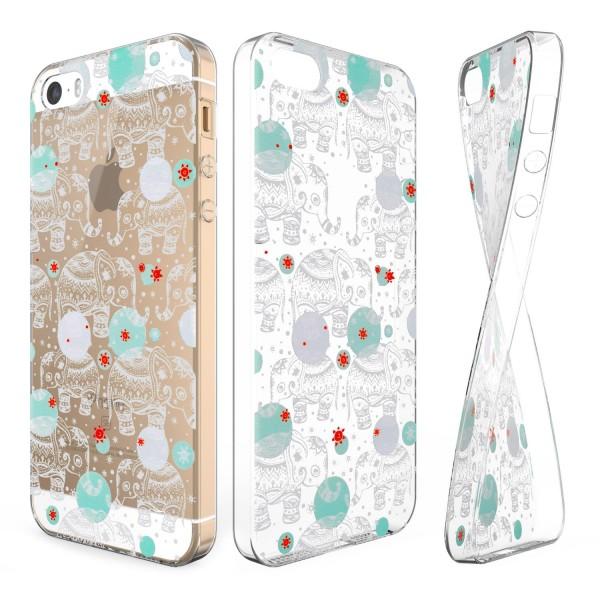 Urcover® Apple iPhone 5 / 5s / SE Schutz Hülle Case Cover Tasche Silikon Soft