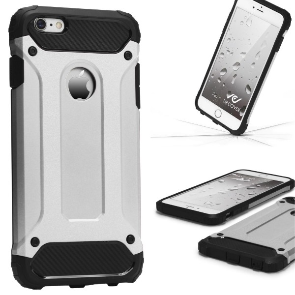 Apple iPhone 6 / 6s OUTDOOR Schutz Hülle TOP Cover Back Case Carbon Optik Etui