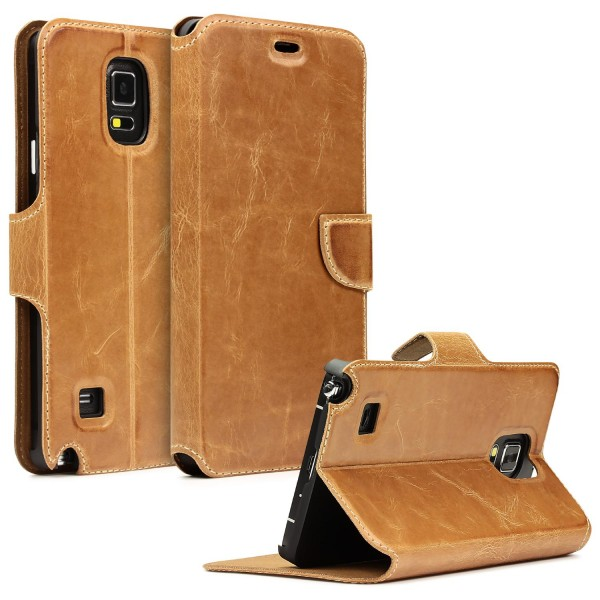 Akira Samsung Galaxy Note 4 Echtleder Klapp Schutzhülle Handmade Flip Cover Etui