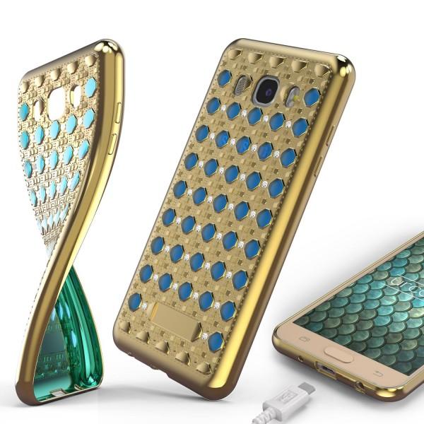 Urcover® Samsung Galaxy J5 (2016) Silikon Back Case Oriental Cover Schutzhülle
