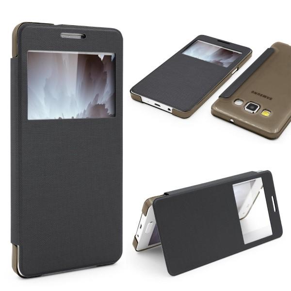 Samsung Galaxy A5 (2015) View Case klar Schutz Hülle Cover Case Etui Handytasche