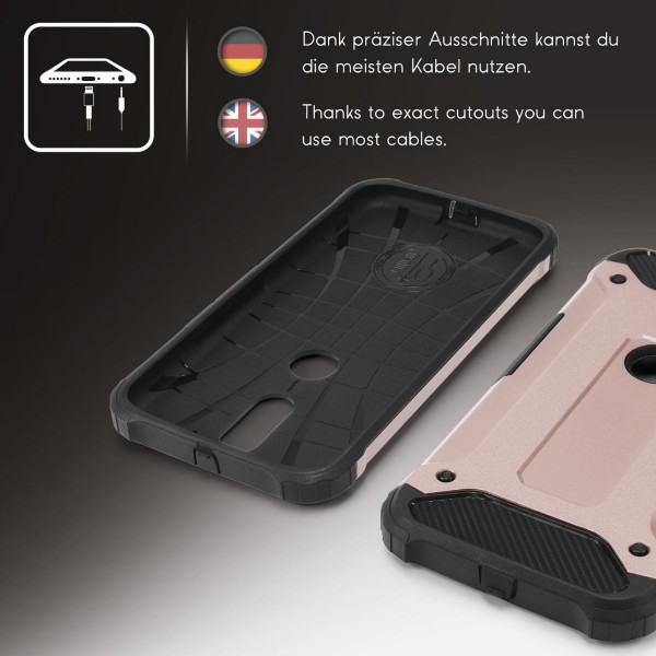 Motorola Moto G4 Play OUTDOOR Schutz Hülle TOP Cover Back Case Carbon Optik Etui