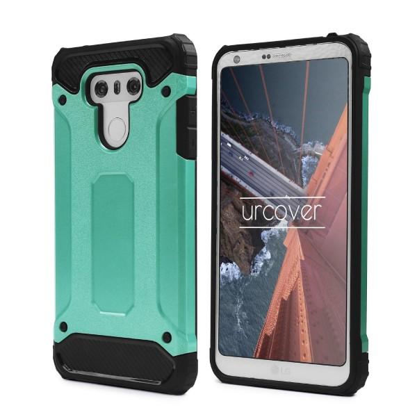 Urcover® LG G6 Hybrid Case Steel Series Schutzhülle Cover Dual Layer TPU PC
