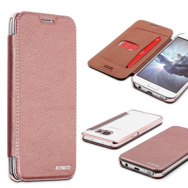 Samsung Galaxy S7 Schutzhülle Wallet Klapp Cover Flip Case Tasche Etui Bumper