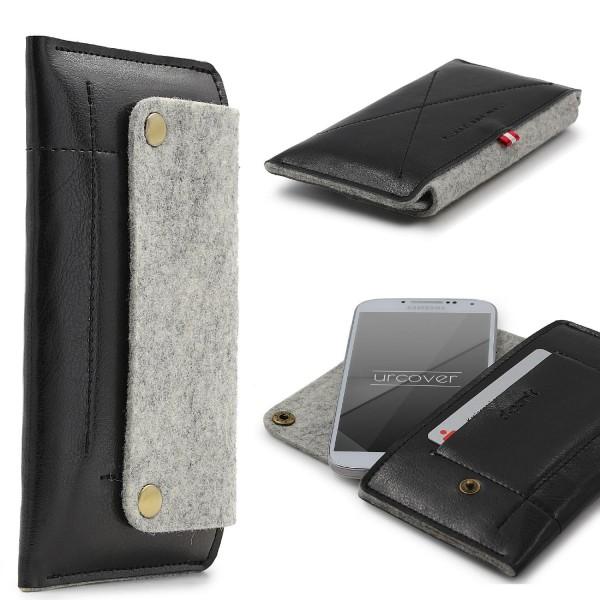Urcover® Samsung Galaxy S4 Handy Schutz Hülle Kartenfach Case Cover Tasche Etui