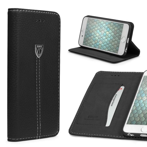 Apple iPhone 6 / 6s Schutz Hülle Wallet Case Flip Cover Kartenfach Schale Etui