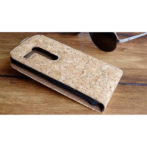 Urcover® Motorola Moto G Kork Schutz Hülle Flip Wallet Case Cover Schale Etui