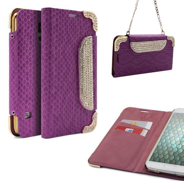 Urcover® Samsung Galaxy S5 Kunstleder Wallet Schutz Hülle Case Cover Etui Wallet