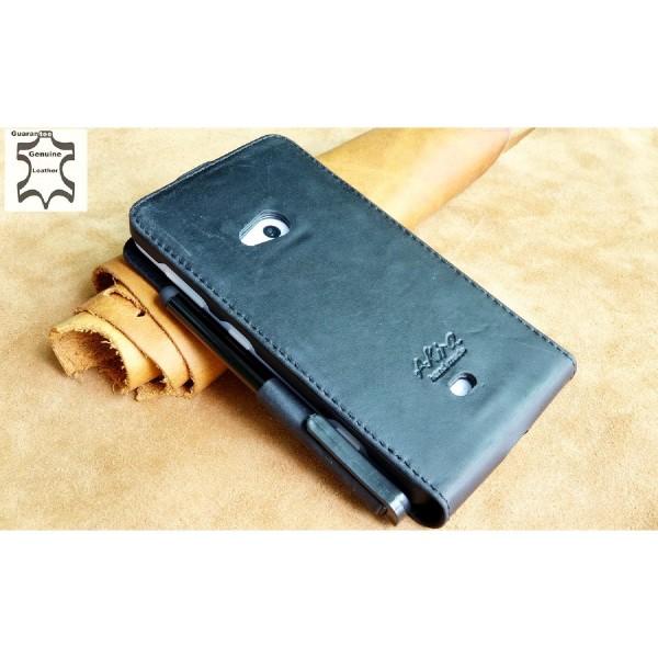 Akira Nokia Lumia 625 Handmade Echtleder Klapp Schutzhülle Wallet Case Flip Etui
