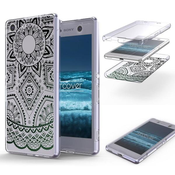 Sony Xperia M5 TPU 360° Grad Rundum Schutz Hülle Mandala Case Cover Schale Etui