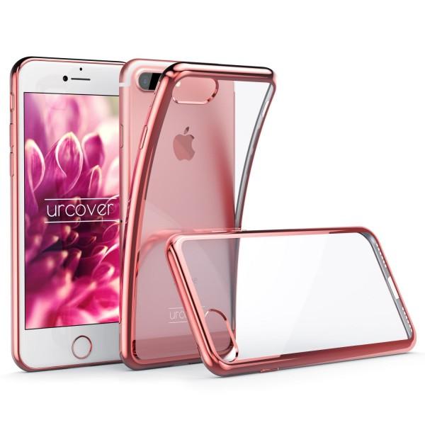 Apple iPhone 7 Plus Hülle Spiegelrand klar Slim Cover Tasche Back Case Etui