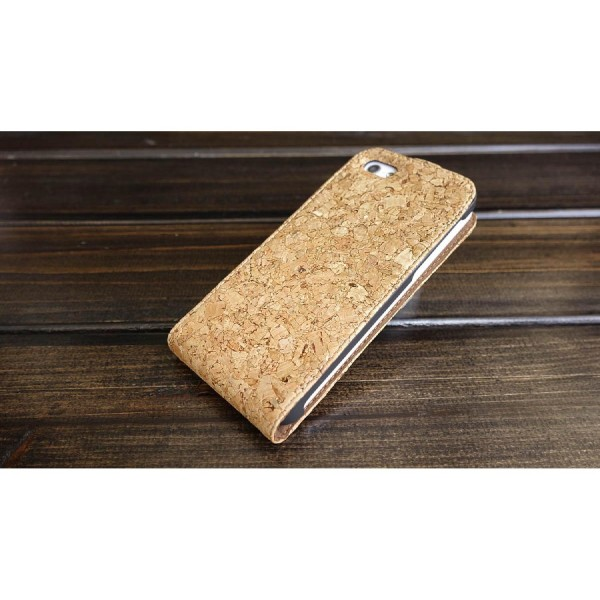 Urcover® Apple iPhone 5c Kork Schutz Hülle Flip Wallet Case Cover Schale Tasche