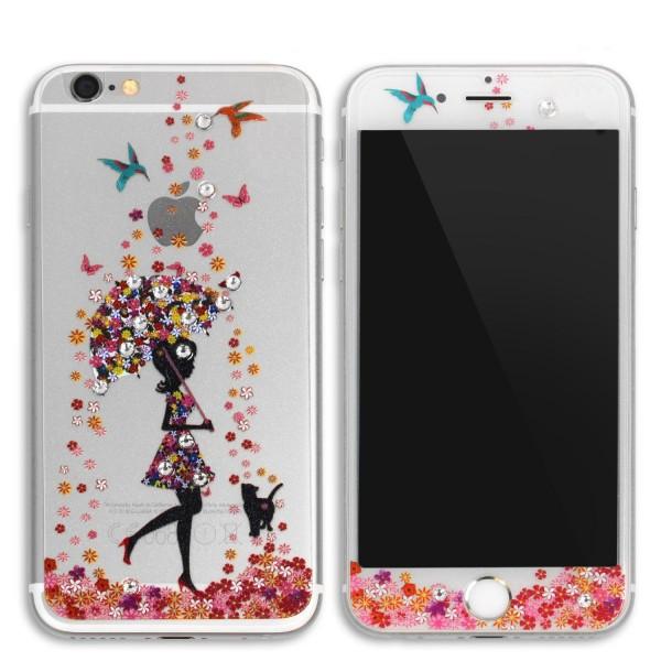 Urcover® Apple iPhone 6 / 6s Glas Panzerfolie Muster Design Cover Folie Klar