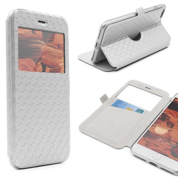 Apple iPhone 7 Plus Sichtfenster Wallet Handy Schutz Hülle View Cover Flip Case