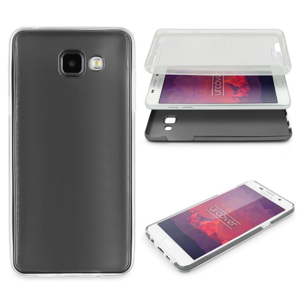 Samsung Galaxy A3 (2016) 360 GRAD RUNDUM SCHUTZ Metalloptik TPU Hülle Cover Case