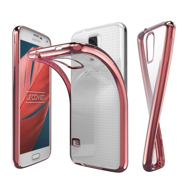 Samsung Galaxy S5 Hülle Spiegelrand klar Slim Cover Tasche Back Case Etui