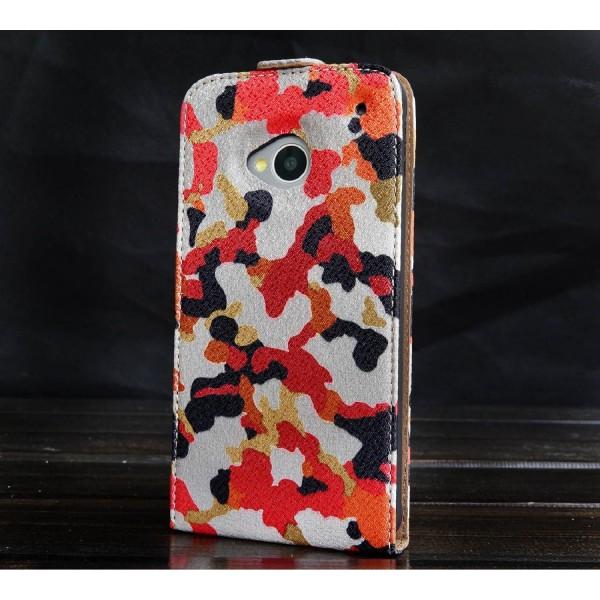 Urcover® HTC One M7 Kunststoff Flip Schutzhülle Tarn Optik Case Cover