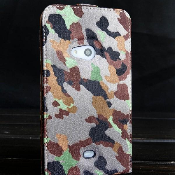 Urcover® Nokia Lumia 625 Tarn Optik Schutz Hülle Case Cover Etui Flip Wallet