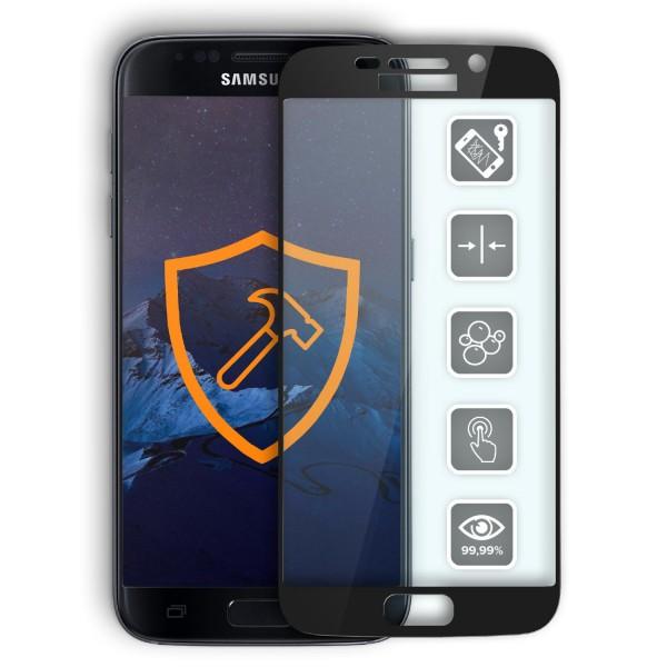 Samsung Galaxy S7 Echt Hart Glas Panzer Display Schutz Folie Ultra Slim Clear