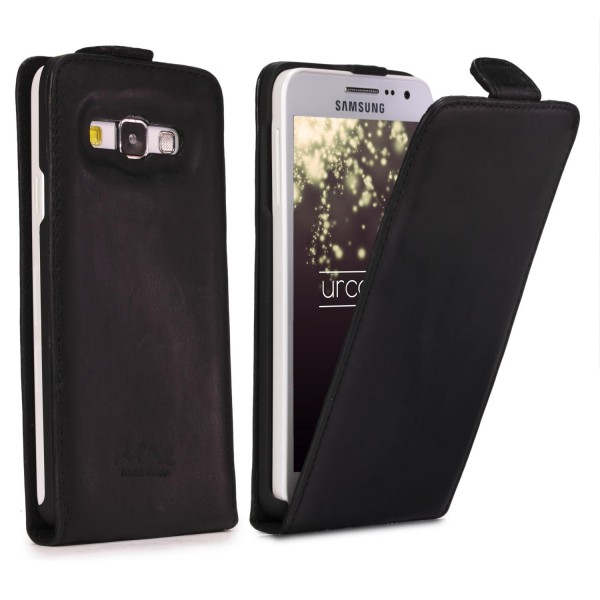 Akira Hand Made Echt Leder Handy Schutz Hülle Samsung Galaxy A3 2015