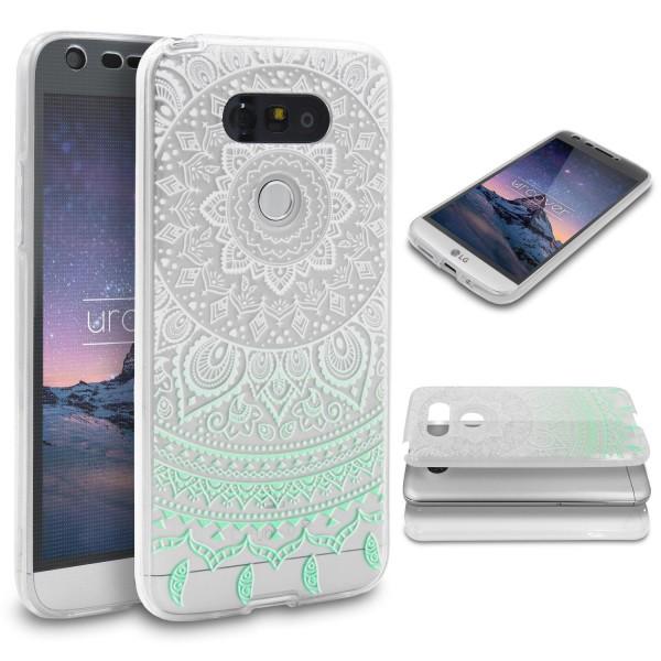 LG G5 TPU 360° Grad Rundum Schutz Hülle Mandala Case Cover Etui Schale Tasche