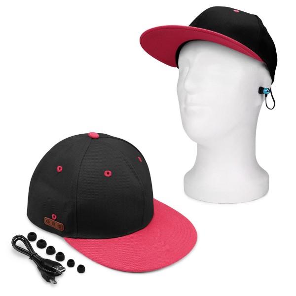 Urcover® Bluetooth Kappe Cap Snap-Back Freisprechfunktion In-Ear Kopfhörer Musik