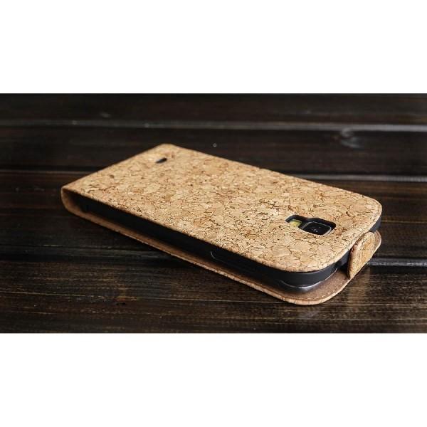 Urcover Samsung Galaxy S4 Active Kork Schutz Hülle Flip Wallet Case Cover Schale