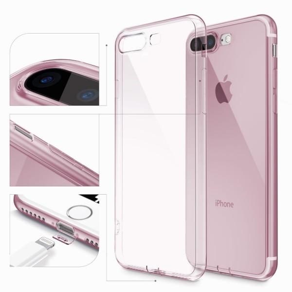 Apple iPhone 7 Plus Ultra Slim Backcase Kamera Schutz Hülle Silikon Cover Case