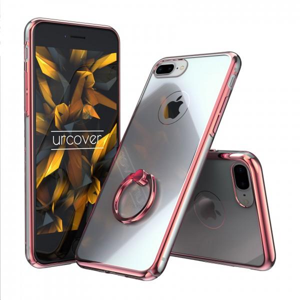 Urcover® Apple iPhone 7 Plus Hard-Cover Selfie Ring Schutzhülle Case Cover Transparent