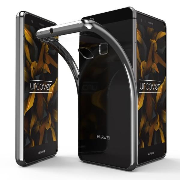 Huawei P10 Lite Hülle Spiegelrand klar Slim Cover Tasche Back Case Etui