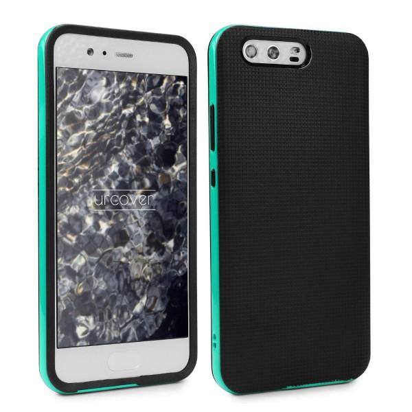 Huawei P10 Plus Schutzhülle Carbon Style Karbon Optik TPU Case Cover Etui Bumper