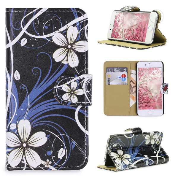 Urcover® Apple iPhone 6 / 6s Design Wallet Kartenfach Schutz Hülle Cover Case